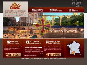Cr ation de site internet pour les huissiers de justice chambre r gionale des huissiers de - Chambre des huissiers de justice de paris ...